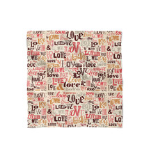Love Typography Satin Style Scarf - ₨1,558.60 INR+