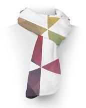 Geometric Triangle Rainbow Fleece Scarf - ₨2,236.55 INR+