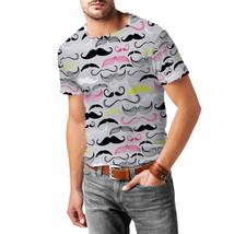 Hipster Neon Mustaches Mens Cotton Blend T-Shirt - $30.99+
