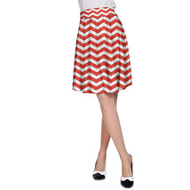 Chevron Red A-Line Skirt - $32.99+