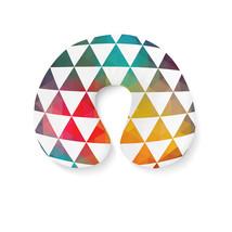 Geometric Triangle Rainbow Travel Neck Pillow - €16,35 EUR