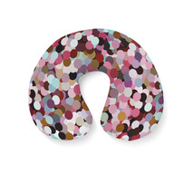 Girly Confetti Travel Neck Pillow - $25.22 CAD