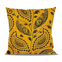 African Tribal Leaves Fleece Cushion - $24.99 - $41.99
