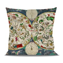 Antique Celestial Sky Map Fleece Cushion - $24.99 - $41.99