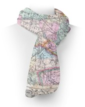 Antique New York City Map Fleece Scarf - ₨2,236.55 INR+