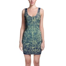 Stars Constellations Map Bodycon Dress - $30.99+