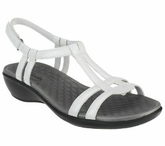 Clarks Collection T-Strap Sandals - Sonar Aster White 10  M - ₹3,940.01 INR