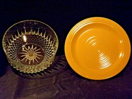 Ceramic Cake Plate and Crystal Cover Heavy AA19-LD11936 Vintage image 6