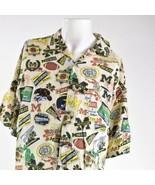 Lee Sport Michigan Wolverines Calcio XL Rayon Shirt - $83.15