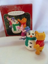 Hallmark Disney Winnie the Pooh and Piglet, BUILDING A SNOWMAN, NIB, B1 - $8.56
