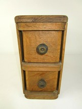 2 Singer Sewing Machine Oak Cabinet Drawers Frames Custom Top Country Decore - $88.48