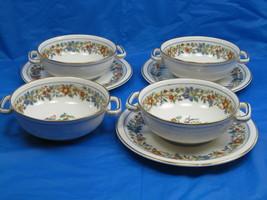 Limoges France Charles Ahrenfeldt  Bouillon Soup Cups & Saucers Lot 7 Pi... - $38.61