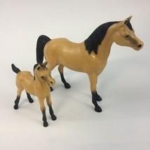 Vintage Hartland Plastics Standing Mare & Colt Horse Figures Collectible... - $23.33