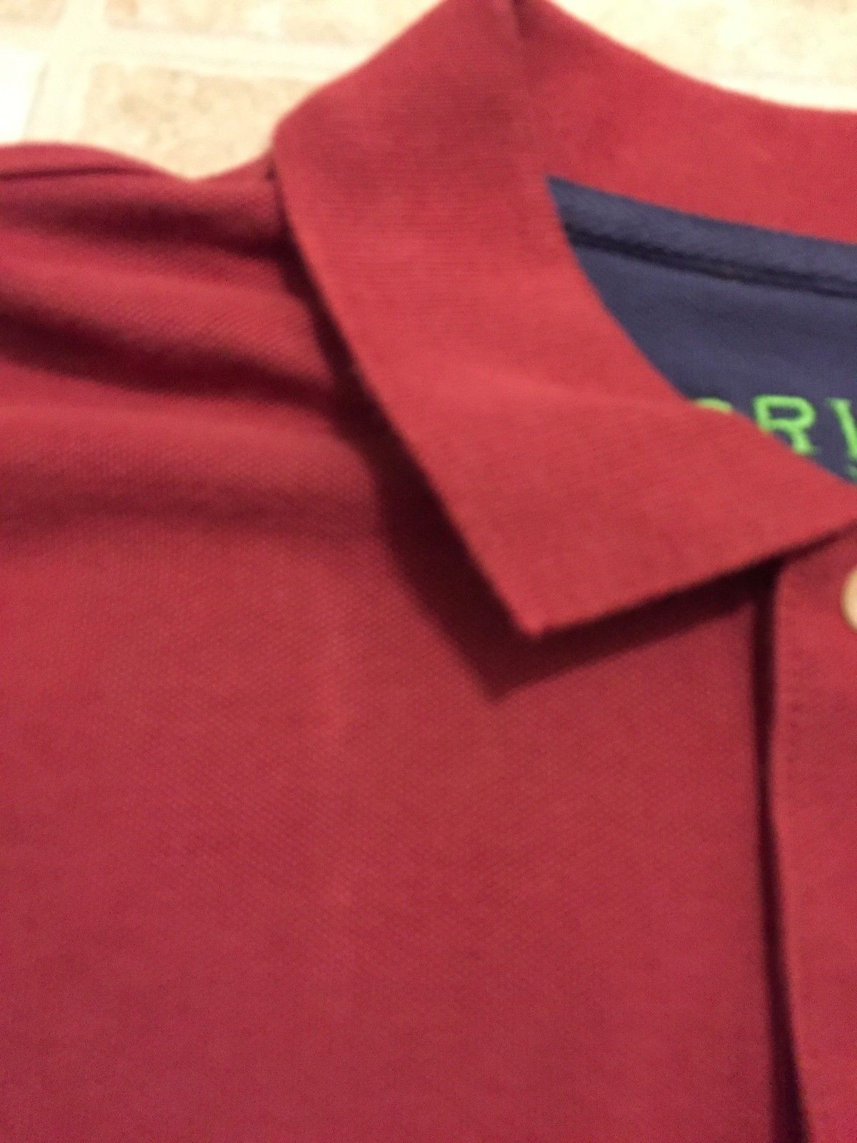 0bbef21b05b Orvis XL Polo Shirt Burgundy Button Front Long Sleeve Embroidered Logo