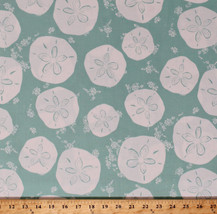 Sand Dollars Beach Sea Ocean Nautical Tides Cotton Fabric Print BTY D365.05 - $10.95