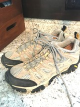 MERRELL Vibram Continuum Hiking Mild Climbing BROWN TAUPE WOMENS Shoe 9.5 - $39.55