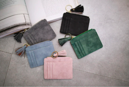 Credit Card Holders Women Slim Wallet Small Thin Tassel Zipper Coin Pock... - $6.97