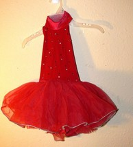 Design For Dance Red Halter Tutu Costume - Size Small Child jw - $19.99