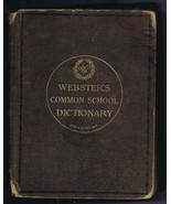 ORIGINAL Vintage 1892 Webster's Common School Dictionary - $32.57