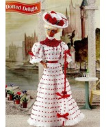 Dotted Delight Dress fits Barbie Doll Annie's Crochet PATTERN/Instructio... - $3.57