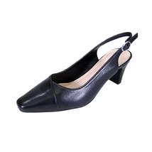 PEERAGE Taryn Women Wide Width Slingback Comfort Mid Heel Leather Shoes  - $53.95