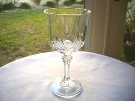 Set of 6 Cristal D' Arques Durand Auteuil Pattern Wine Glasses - $38.60