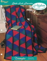 Triangles Quilt Look Favorites Afghan Pattern The Needlecraft Shop 1996 TNS - $3.46