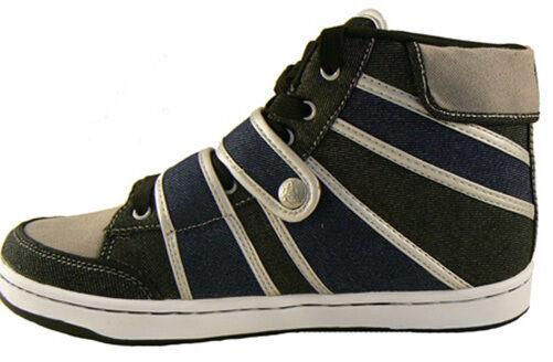 Public Royalty Nero Blu Zaq Alto Top Jeans Sneaker Scarpe Nib