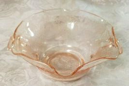 Old Vintage 30s Florentine #1 Pink Depression by Hazel Atlas Cream Soup Nut Bowl image 3