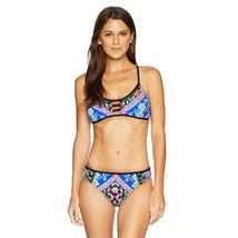 Nanette Lepore  Strappy Bralette Bikini Swimsuit Top, Multi/Embroidered,... - $28.94