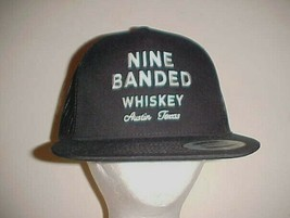 Nine Banded Whiskey Adult Unisex Black White Baseball Trucker Cap One Si... - $24.74
