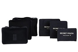 Travel Packing Cube Set 6pcs Luggage Compress Pouch High Grade Waterproo... - $241,18 MXN