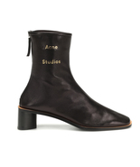 ACNE STUDIOS Bertine Leather Ankle Boots in Black - $415.00