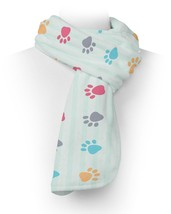 Paw Prints Fleece Scarf - $618,34 MXN+