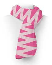 Neon Pink Chevron Fleece Scarf - $43.40 CAD+