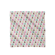 Pastel Geometric Triangles Satin Style Scarf - ₨1,607.60 INR+
