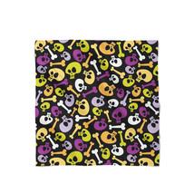 Cartoon Halloween Skulls Satin Style Scarf - ₨1,558.60 INR+