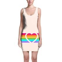 Rainbow Heart Bodycon Dress - $30.99+