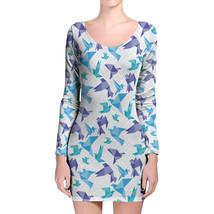 Origami Birds Longsleeve Bodycon Dress - $36.99+