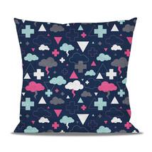 Geometric Thunder Clouds Fleece Cushion - $24.99 - $41.99