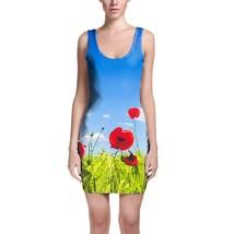 Red Poppies Field Bodycon Dress - $30.99+