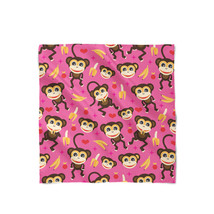 Monkeys Go Bananas Pink Satin Style Scarf - ₨1,607.60 INR+