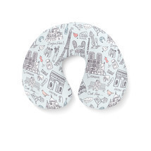 Bonjour Paris! Travel Neck Pillow - $24.65 CAD
