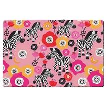 Zebra Blossoms Pink Door Mat - $32.99+