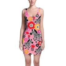 Zebra Blossoms Pink Bodycon Dress - $30.99+