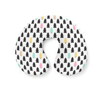 Pine Trees Geometric Pastel Travel Neck Pillow - $24.65 CAD