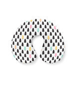 Pine Trees Geometric Pastel Travel Neck Pillow - $24.54 CAD