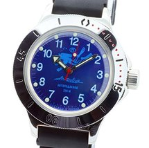 Vostok Amphibian Military Russian Diver Watch Scuba Dude Blue 2415 / 120656 - $72.18
