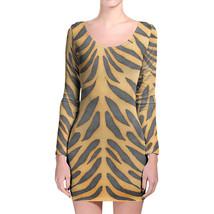 Tiger Print Longsleeve Bodycon Dress - $36.99+