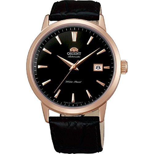 Orient Men's Symphony 41mm Black Leather Band Rose Gold Plated Case Automatic... - $140.13